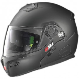 Grex G9.1 [022] Evolve Kinetic N-COM Modular Motorcycle Helmet Black Graphite-X-Large